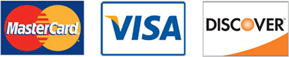 Credit Card Logos - We Accept MasterCard, Visa and Discover