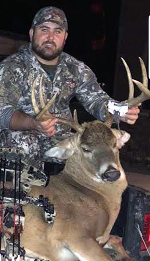 Large White Tail Buck taken by a hunter using Buck Magic