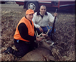 Whitetail Buck harvested late in the deer hunting season due to Buck Magic